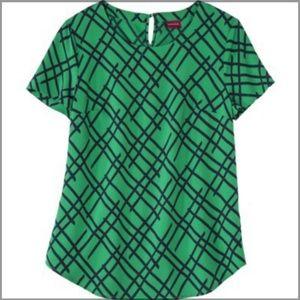 Merona Green Polyester Blouse